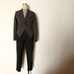 Noisy May - Grey Fleece Lined Sweater Blazer